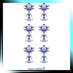 ショッピングmiddle HARRY STICKER ウォールステッカー 貼ってはがせる 転写式 中世の葉柄 (middle-ages-leaf) ネイビーブルー L 約45×100cm