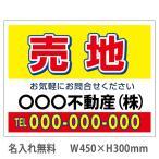 売地 看板 450×300mm(不動産看板,管理看板,募集看板,プレート看板)