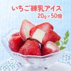 業務用 苺まるごと練乳入りアイス 20g×50個入×2袋 【いちご イチゴ スイーツ パーティー 子供 子ども】