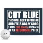 カットゴルフ CUT GOLF カットブルー CUT BLUE 4ピース ゴルフボール 1ダース(12球入り) US仕様「メール便不可」「あすつく対応」
