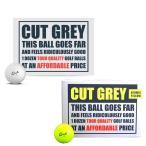 カットゴルフ CUT GOLF カットグレー CUT GREY 3ピース ゴルフボール 1ダース(12球入り) US仕様「メール便不可」「あすつく対応」