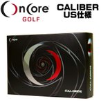 「中空金属コア」オンコアゴルフ ONCORE GOLF キャリバー CALIBER ゴルフボール 1ダース(12球入り) US仕様