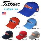 「帽子 ウェア メンズ」2016年 タイトリスト ヴィンテージ キャップ TH6AVC-9 帽子