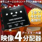 ヘッドレスモニター サンバイザーモニター ビデオブースター 映像4分配器