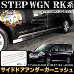 ショッピングステップワゴン ステップワゴン ステップワゴン スパーダ RK1 2 5 6 サイドドアアンダーガーニッシュ ステンレス製 メッキ 4P
