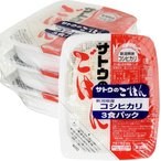 サトウのごはん 新潟県産コシヒカリ 200g x 3 サトウ食品