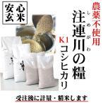 島根県 28年産 清流米『注連川の糧』K1コシヒカリ 安心玄米1kg グループ基準=K1(有機質肥料100% 農薬不使用)