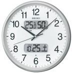 セイコー/SEIKO 電波掛時計 KX383S 液晶表示(日付・温湿度)つき