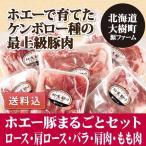 豚肉 送料込 ロース 肩ロース 豚バラ 豚ひき肉 豚もも肉 ホエー豚まるごとセット 源ファーム 北海道 大樹町 産地直送 ギフト