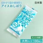 紙おしぼり 極冷アイスおしぼり ミントの香り 100本 日本製 大判 不織布 冷凍できる 業務用 送料無料