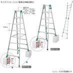 長谷川工業 ハセガワ  脚部伸縮式はしご兼用脚立 RYZ 1.0-15