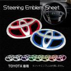 Batberryステアリングエンブレムシート/トヨタ1/薄型シール/UVカット光沢/ヴォクシーハイブリッド 80系 ZWR80G/ZWR80W用/品番ET12