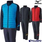 テックフィルシャツ ムーブウォーマーパンツ 上下セット(中綿) (P2ME8515-P2MF8520)ミズノ(Mizuno) 中綿ジャケット 中綿パンツ トレーニングウエア