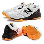 newbalance ニューバランス テニスシューズ メンズ オールコート MC496WB1 2E WHITE/ORANGEカラー