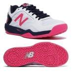 ニューバランス newbalance テニスシューズ レディース WC100 WP1 D WHITE/NAVYカラー オムニ/クレーコート用