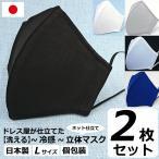 冷感 夏用 蒸れない マスク 日本製 洗える 在庫 あり 布マスク 大きめ 男性用 L サイズ アトリエフジタ