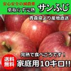 減農薬!青森完熟りんご「サンふじ」●家庭用10キロ!
