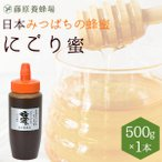 はちみつ 国産 日本ミツバチ 藤原養蜂場の日本在来種みつばちの蜂蜜 巣ごと絞った にごり蜜 使いやすいポリ容器 500g