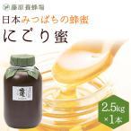 はちみつ 国産 日本ミツバチ 藤原養蜂場の日本在来種みつばちの蜂蜜 巣ごと搾った にごり蜜 2500g