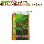 ショッピングトイレットペーパー トイレットペーパー芯あり ダブル 緑茶の力 12R(ダブル)72ロール (12ロール× 6パック) /ケース 丸富製紙