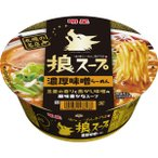 明星 狼スープ 濃厚味噌らーめん 105g×12個入り (1ケース) (MS)