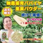 [無農薬青パパイヤ1.9kg 使用!] グリーンパパイヤパウダー80g [パパイヤ果肉だけ使用]/おトクな3ヶ月分セット!(6ヶ月分セットや1袋からも別途ご用意♪)