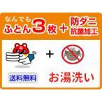 布団クリーニング 3枚宅配 防ダニ・抗菌加工つき