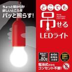 どこでも吊せるLEDライト LED照明 電池式 コンパクト 配線不要 簡単設置 クローゼット  屋外照明 テント 停電 地震 非常用