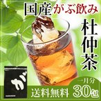 杜仲茶 杜ちゅう茶 とちゅう茶 カフェインレス 国産 茶 健康茶 送料無料 ティーバッグ 30包 ふくちゃ 福茶