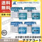 ヘルメチック アクアコート (水中硬化型防水塗装材料) 標準タイプ 【グレー】 1kgセット 【送料無料(関東・中部】