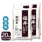 新米 無洗米 20kg コシヒカリ 白米 福井県産 5kg×4袋 令和2年産 送料無料 一部地域を除く