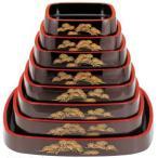 寿司桶 DX三味胴桶 溜パール松 尺3寸 (7人用) ABS樹脂製 f5-954-7