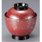 汁椀 蓋付き 耐熱3.2寸玉子椀 朱光彩 食器洗浄機対応 耐熱ABS樹脂 f6-214-12