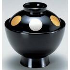 汁椀 蓋付椀 3.5寸 雅小吸椀 黒日月 耐熱ABS樹脂製 食器洗浄機対応 f6-219-10
