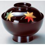 吸物椀 蓋付き 蒔絵本漆 4.3寸雑煮椀 溜紅葉 漆塗 f6-303-2