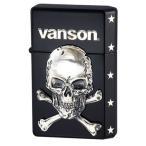 オイルライター vanson×GEAR TOP V-GT-04 クロスボーンスカル ブラック たばこ かっこいい ハード
