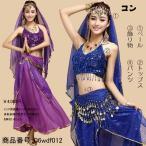 ベリーダンス衣装 セットアップ アラビア 少数民族風 ステージ衣装 ベリーダンス衣装dance
