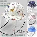 サンバイザー 子供帽子 可愛い ウイルス対策 飛沫防止 新型コロナウイルス対策 花粉対策 サファリハット 紫外線 日焼け防止 漁師帽 子供用 コットン