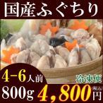 (ふぐ フグ)国産ふぐちり鍋セット800g(4〜6人前)/ふぐちり鍋/てっちり/ふぐ鍋/冷凍便