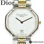 【Christian Dior/クリスチャンディオール】スウィング ウォッチ レディース 腕時計 シルバー×ゴールド 白文字盤/48.203 【中古】