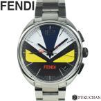 【FENDI/フェンディ】BAG BUGS/バッグバグズ クロノグラフ 腕時計 SS/クォーツ×モンスター 002-21200G-077 【中古】≪送料無料≫