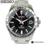 【GRAND SEIKO/グランドセイコー】メカニカル  GMT  9S66 ブラック文字盤/裏スケルトン SBGM027 オートマティック 【中古】≪送料無料≫