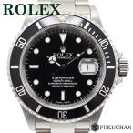 ROLEX ロレックス サブマリーナ デイト 腕時計 黒文字盤 16610 P番 (2000年製造)中古 (送料無料)