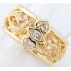 ヤーネス ダイヤモンド 18金イエローゴールド 13号 リング・指輪【中古】