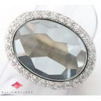 ポメラート アイスバーグ アクアマリン ダイヤモンド 18金ホワイトゴールド 13号 リング・指輪【中古】