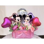 Yahoo!fukupukuバルーンギフト ウエディングドール ミッキー&ミニー 洋装 送料無料,ぬいぐるみ電報,結婚式 祝電,(1054)