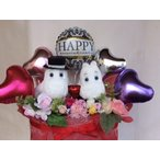 Yahoo!FukuPukuバルーンギフト ぬいぐるみ電報 ウエディングドール ムーミン ムーミンパパ&ママ,送料無料,結婚式 祝電,開店祝い(1070)