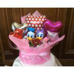 Yahoo!FukuPukuバルーンギフト ウエディングドール ドナルドダック&デイジー Redポルカドット送料無料,ぬいぐるみ電報,結婚式 祝電誕生日,開店祝い(1096)
