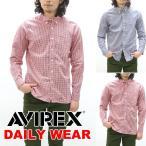 AVIREX アビレックス ギンガムチェックボタンダウンシャツ 61...--6372