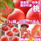 「ふくしまプライド。体感キャンペーン」福島県産 特秀品桃 1.7kg箱 5〜7玉入